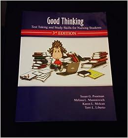 Descargar Libro It Good Thinking: Test Taking And Study Skills For Nursing Students Kindle Lee Epub