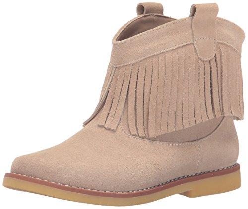 Elephantito Girls' Bootie w Fringes Fashion Boot, Sand,