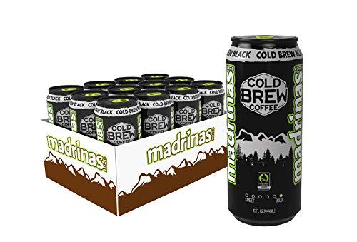 Madrinas Coffee Fair Trade Organic Cold Brew Black, 15 fl oz (Pack of 12) by Madrinas Coffee (Image #2)