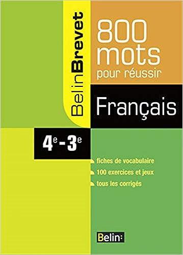 Amazon Fr Francais 4e 3e 800 Mots Pour Reussir Claude