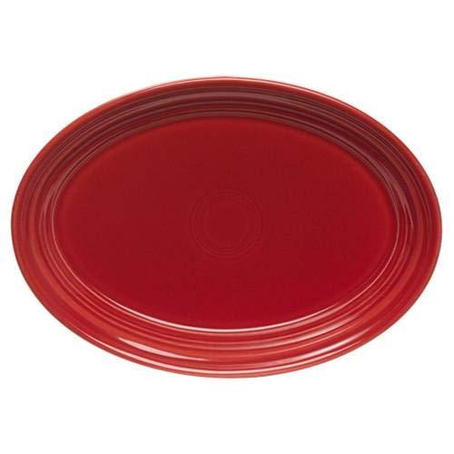 Homer Laughlin Serving Platter - Fiesta 9-5/8-Inch Oval Platter, Scarlet