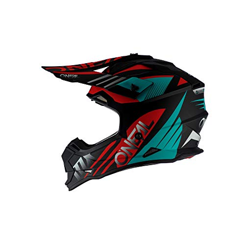 O'Neal 2 Series Unisex-Adult Off-Road Helmet (Black/Teal/Red, M)