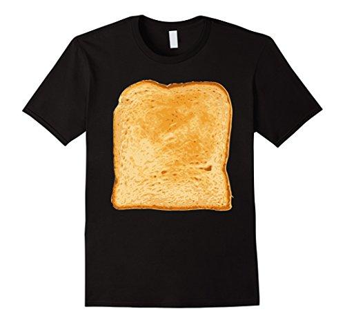 Mens Bread Shirt Toast Costume Funny Gag Gift Gluten T-Shirt Small Black