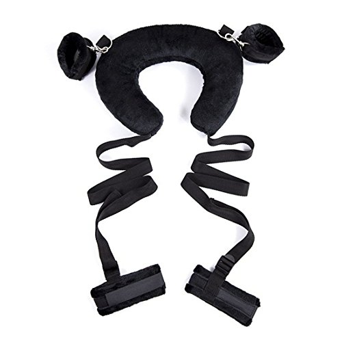 Price comparison product image Sexy Pillow Fetish's Bed Bondage Straps,Ankle Cuffs and Hand Cuffs with Soft Pillow and Adjustable Straps Restraint System Kit for Couples