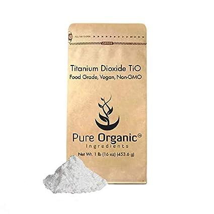 Titanium Dioxide 4 oz 0.25 lb Cosmetic grade, non-nano particles are gentle on skin, Food grade, Kosher & Halal Certified, Vegan, Non-GMO, Whitens homemade soaps & lotions, (8 oz, 16 oz, 24 oz, 50 lb) Pure Organic Ingredients 4336901272