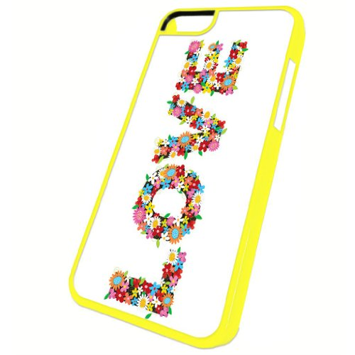 Love Flower Power - iPhone 5c Glossy Yellow Case
