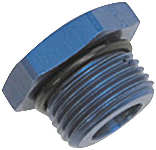 Russell 660290 Blue Anodized Aluminum 10AN Straight Thread Plug Adapter