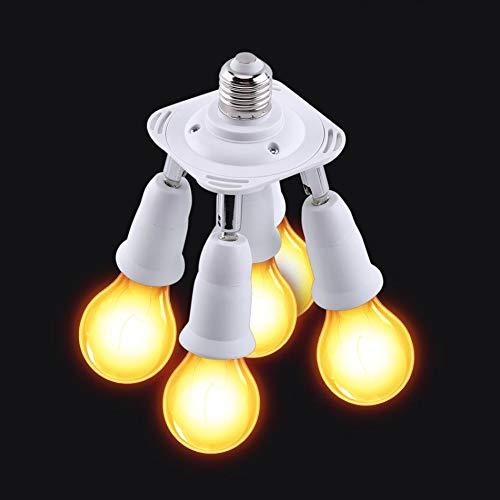 Laliva Adjustable E27 Base Light Lamp Bulb Socket 5 in 1 90V-240V Light Adapter Holder Socket Splitter E27 Socket Base Hot Sale