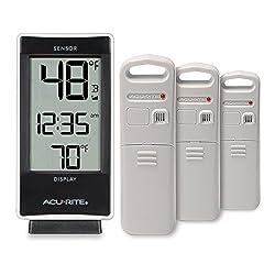 AcuRite 01090M Multi-Sensor Thermometer with 3 Indoor/Outdoor Temperature Sensors