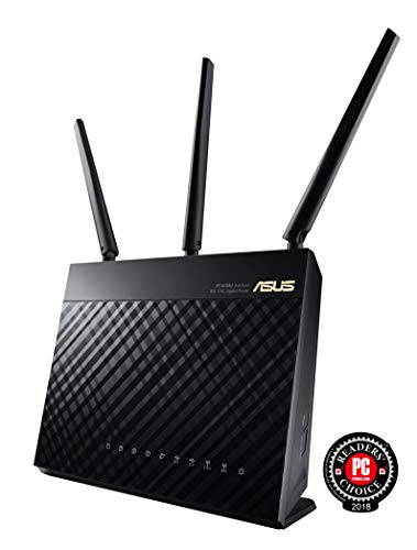 802.11n Wireless Broadband Router (ASUS Whole Home Dual-Band AiMesh Router (AC1900) for Mesh Wifi System (Up to 1900 Mbps) - AiProtection Network Security by Trend Micro, Adaptive QoS & Parental Control (RT-AC68U))