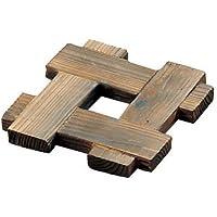 万洋 日本制造 杉木 井桁 锅垫 15×15×1.7cm 34004