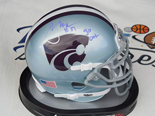 - Reggie Walker Signed Kansas K State KSU Wildcats mini helmet w/Go Cats COA