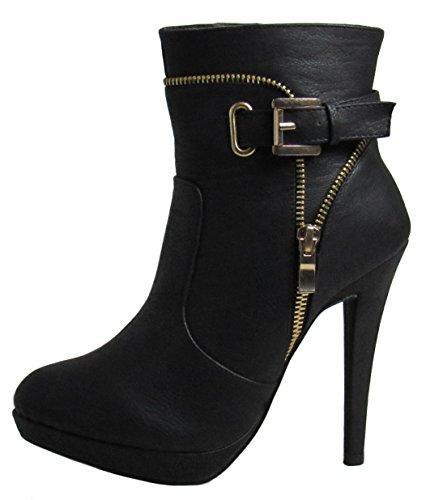 Moda 6 Black D Boots Womens US Tigger M 7 Top dtwxaqa