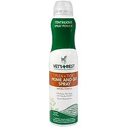 Vet's Best Natural Flea and Tick Home & Go Spray, 6.3 oz, USA Made