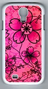 Beautiful Free Floral Textures Customized Hard Shell White Samsung Galaxy S4 I9500 Case On Custom Service