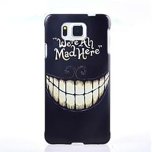LCJ Smile Face Pattern PC Hard Case for Samsung Galaxy Alpha G850F