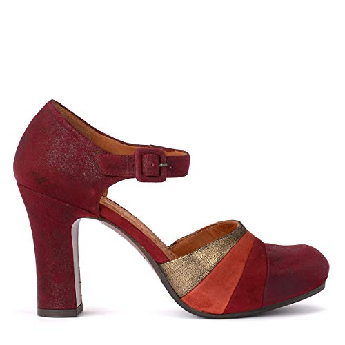 0468422ce4bd8 Chie Mihara Woman's Scarpa Deluxe in Suede Multicolore 38(EU) - 8(US) Red