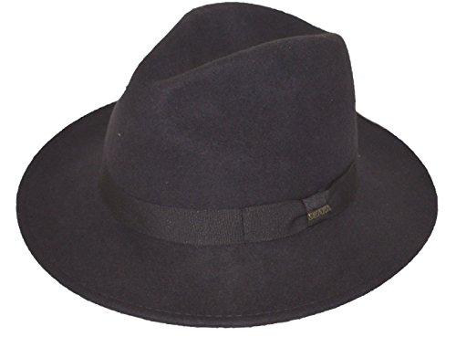 Scala Men's Safaris Shape 100% Wool Felt Fedora Hat Brown Small
