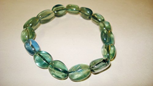 1pc Green Fluorite Extra Quality 10mm Tumbled Nugget Natural Stone Gemstone Crystal Healing Stretch Bracelets