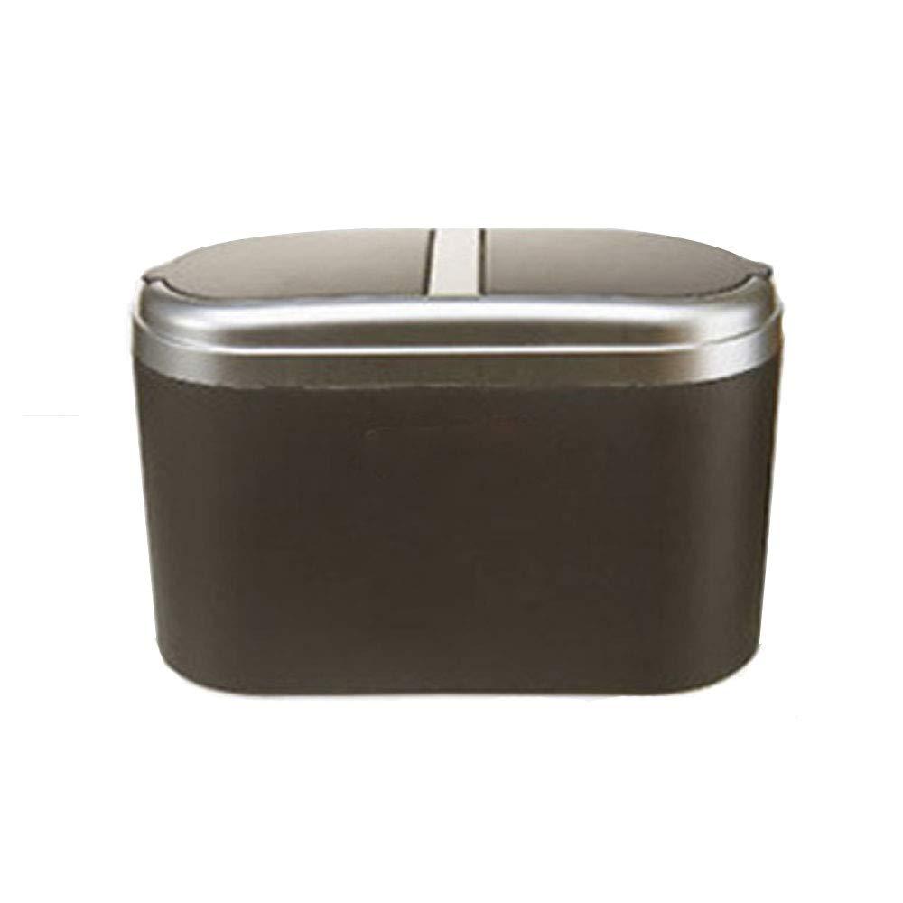 Abfall & Recycling Farbe : Gold Küchen-Abfalleimer AXIANQI Auto Aufbewahrungsbox Großhandel Auto Mülleimer Mini Auto Mülleimer Doppelabdeckung Auto Müll A
