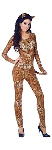 Wild Minx - Leopard Cat Suit Adult Costume Size 10-12 Medium -
