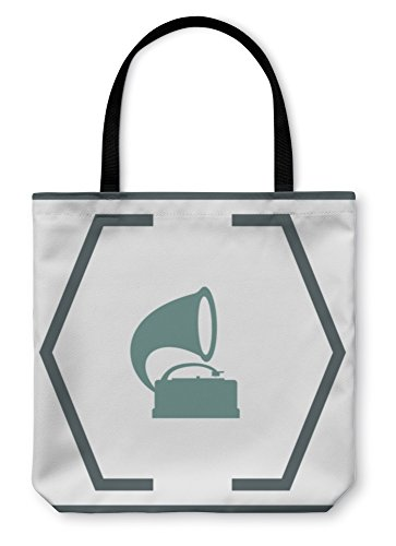 Gear New Shoulder Tote Hand Bag, Gramophone Icon Record Player Sign, 18x18, 6050884GN
