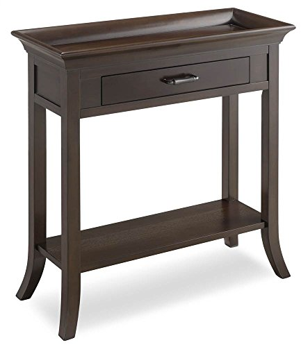 Leick Favorite Finds Tray Edge Console Table in Chocolate