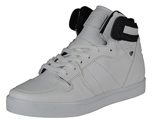 Herren Schuhe - Freizeitschuhe - High Sneaker Sneaker Sneaker - mit Stern an der Ferse - in schwarz oder weiß Weiß 6cb45b