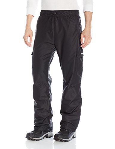 (Arctix 61600-00-L Men's Sentinel Pull Over Fleece-Lined Cargo Snow Pants, Black, Large)
