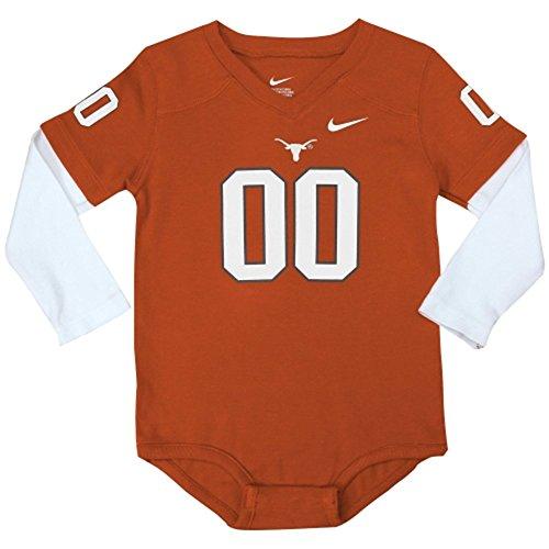 Texas Longhorns Newborn Baby 2-Fer Football Jersey Creeper - Burnt Orange (6-9 Months)