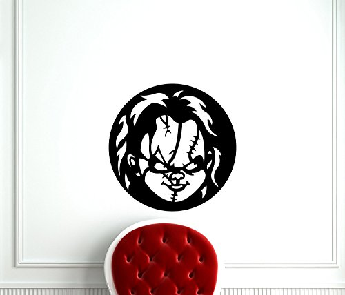 AdecalsNew Child's Play Chucky Wall Decal Cartoon Movie Maniac Horror Poster Halloween Artwork Vinyl