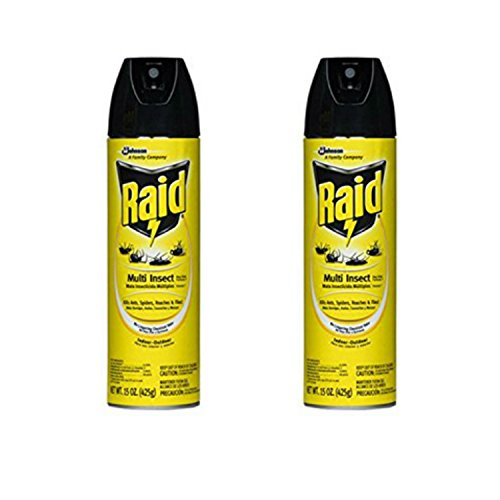 Flying Insect Killer Spray (SC Johnson 73868 Raid, 15 Ounce, Multi Insect Killer (Pack of 2))