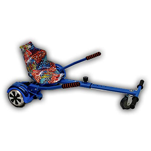 GadgetFinder Graffiti - Asiento de rastreo Naranja con hoverkart Azul Hover Kart Go Kart Racer GoKart