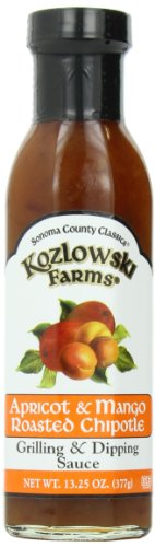 Kozlowski Farms Roasted Chipotle Sauce, Apricot and Mango, 13.25-Ounce (Pack of 6)