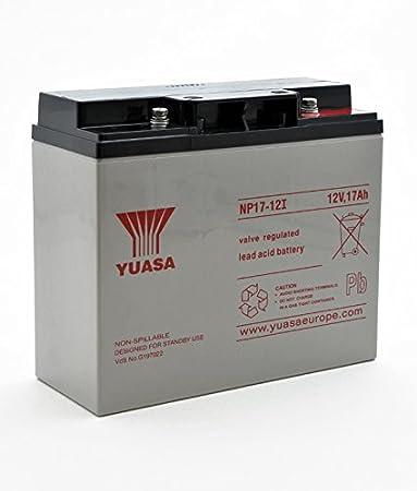 Batería Yucel Y17-12 17Ah 12V (181mm*77mm*167mm) para Alarma, SAI´s (UPS), Luces de Emergencia.