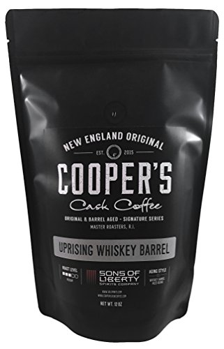 Sumatra Single-Malt Whiskey Barrel Aged Coffee - Single Origin Sumatra Coffee Beans Aged in Stout Whiskey Barrels - UPRISING- 12 oz Bags, Whole Coffee Bean made in New England