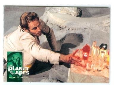 Charlton Heston as Taylor trading card Planet of the Apes 1999 Inkworks #35 Its Doomsday