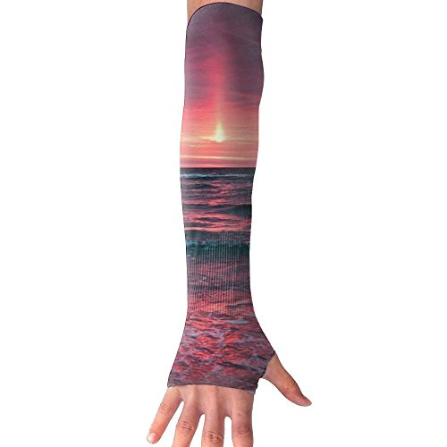 Sunset Sea UV Protection Arm Sleeves Fitness Towel Sports Sun Sleeves Arm Sports Towel Cooling Ability For Outdoors Use Like Running Basketball - Savannah In Mall
