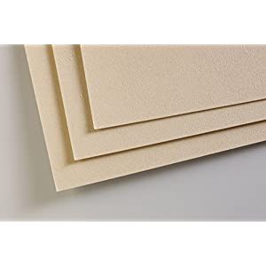 Clairefontaine PastelMat Paper Pack 5sh 24×32-Sand, 24 x 32 cm, Sand