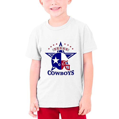 YUNLIHO Funny Design Texas Flag The'Boys Star Football Shirt O-Neck for Teeny White M