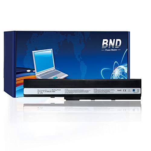 BND Laptop Battery for Asus A52F A52J A52 K42 k42J K52 K52F K52J K52JR K52JC, fits Asus K52L681 A31-K52 A32-K52 A41-K52-24 Months Warranty [6-Cell 5200mAh/58Wh]