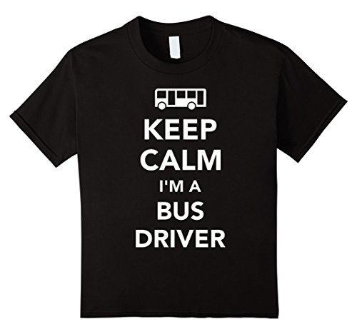 [Kids Keep Calm I'm A Bus Driver T-Shirt 8 Black] (Bus Driver Uniform Costume)