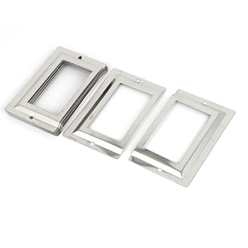 ibrary File Drawer Metal Tag Label Holder, Silver Tone, 10 Pieces (a16062000ux0505) (Silver Metal Name Tag)