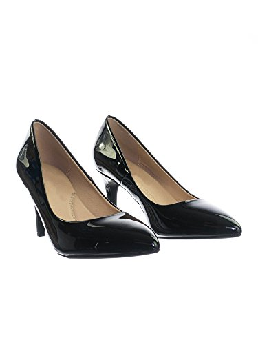 Heel Pointy Medium Comfort Cushioned Black Patent Super h Inner Toe Pump Foam High Classified Memory Sole Coen City R70qOw
