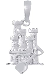 Sterling Silver Sandcastle Pendant
