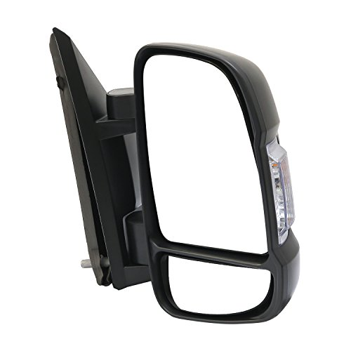 LONGLING Passenger Right Side Mirror Replacement Power Mirror Single Light fit Ram 1500, 2500, 3500, New Six, ProMaster, Work Van