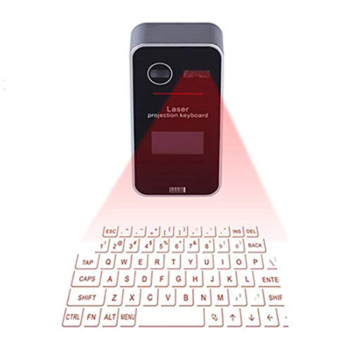 EASON Bluetooth Wireless Keyboard, Virtual Projection Speaker Complete Keyboard Layout Fast and Accurate Data Tablet Mobile Computer Universal (Laser Projection Virtual Keyboard And Touchpad Bluetooth)