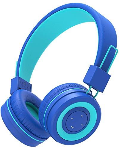 iClever Bluetooth Children Headphones, Koptelefoons voor kinderen met MIC, Volume Administable hoofdband, Vodable…