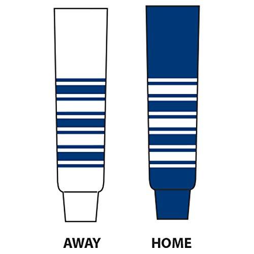 - DoGree Hockey Toronto Knit Hockey Socks, 28-Inch, White/Blue