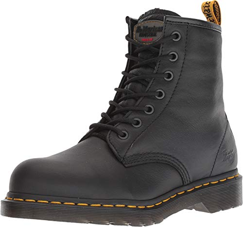 (Dr. Martens Work Women's Maple Steel Toe Zip Black Newark 8 B UK B (M))